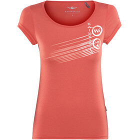 Kaikkialla Tytti Drirelease Shortsleeve Shirt Women orange